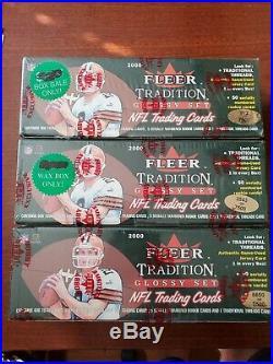 2000 Fleer Tradition Glossy Football Factory Sealed Set #/7500 Tom Brady Rc