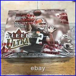2000 Fleer Ultra Football Hobby Box Factory Sealed 24 Pack Tom Brady rookie card