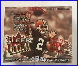 2000 Fleer Ultra Football Hobby Box Factory Sealed Tom Brady RC