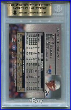 2000 Metal Football #267 Tom Brady Rookie Card RC BGS 9.5 Gem Mint Patriots