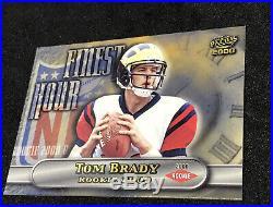 2000 Pacific #15 TOM BRADY ROOKIE Football Card Finest Hour NE Patriots NM
