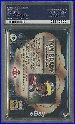 2000 Pacific Crown Royale Die-Cut #110 Tom Brady RC AUTO PSA 10 PSA/DNA POP 22