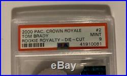 2000 Pacific Crown Royale Retail Tom Brady ROOKIE RC #110 PSA 9 MINT