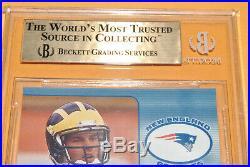 2000 Pacific Omega Tom Brady RC #191 BGS 9.5 TRUE GEM MINT 305/500 Patriots GOAT