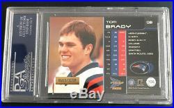 2000 Pacific Prism #156 Tom Brady Rc /1000 Psa 9 Very Rare Pop=29