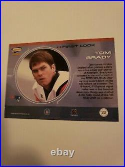 2000 Pacific Revolution Tom Brady First Look Insert Rookie Card #22 Star