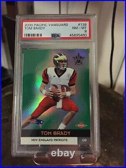 2000 Pacific Vanguard Tom Brady Rookie Card #139 /762 RC PSA 8 NM-Mint LV MVP TB
