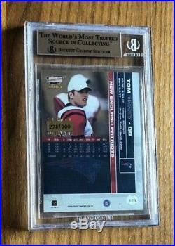 2000 RevolutionTOM BRADY #128 RCRarest Base Rookie Card. /300BGS 9.5 Gem with10