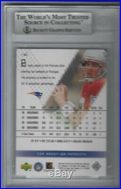 2000 SPx TOM BRADY Rookie Card RC #130 /1350 BGS 9 Mint