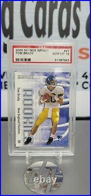 2000 Skybox Impact #27 Tom Brady Patriots RC Rookie PSA 10 THE GOAT HOTTEST RC