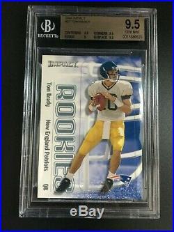 2000 Skybox Impact #27 Tom Brady Rookie New England Patriots Bgs 9.5