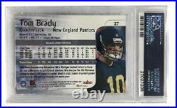 2000 Skybox Impact Tom Brady Rookie Card #27 PSA 10 RC Gem Mint Patriots