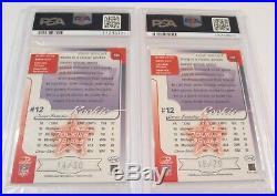 2000 TOM BRADY RC Leaf Rookies Stars Rare Longevity Lot All Six PSA 9 S/N xx/30