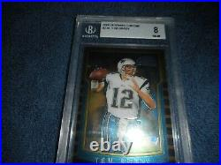 2000 Tom Brady Bowman Chrome #236 Beckett PSA 8 NM-MT Rookie Gorgeous Great Subs