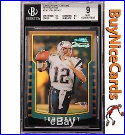 2000 Tom Brady Bowman Chrome Refractor RC Rookie #236 BGS 9 with Three 9.5's