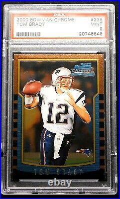 2000 Tom Brady Chrome Rookie PSA 9 MINT Bowman #236 RC Card New England Patriots