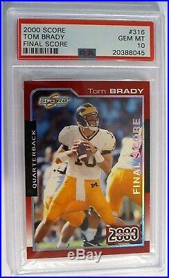 2000 Tom Brady RC Rookie Final Score Rare (S/N 25/32) PSA 10 Gem Mint POP 3