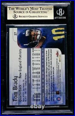 2000 Tom Brady Rookie BGS 9.5 GEM MINT SkyBox Impact #27 Exquisite NE Patriots