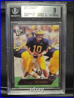 2000 Tom Brady Rookie Press Pass #37 Bgs 9 Mint