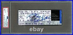 2000 Tom Brady Signed Patriots Rookie Rc NFL Debut Full Ticket Psa/dna Auto