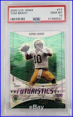 2000 UD Ionix #77 Tom Brady Rookie PSA 10 358/2000
