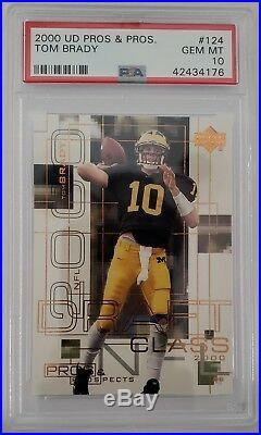 2000 UD Pros & Prospects #124 Tom Brady Rookie PSA 10