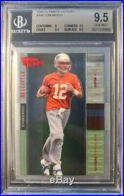 2000 UD Ultimate Victory #146 Tom Brady Patriots RC Rookie #/2000 BGS 9.5
