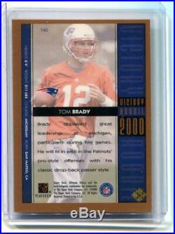 2000 Ultimate Victory Tom Brady Gold Parallel Rookie #146 Patriots (CBF)