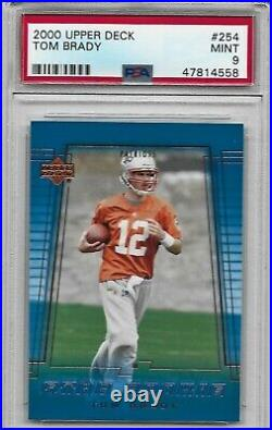 2000 Upper Deck #254 Tom Brady ROOKIE CARD PSA 9 Mint