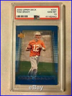 2000 Upper Deck #254 Tom Brady Rookie Card PSA 10 Gem Mint NFL GOAT NE Patriots