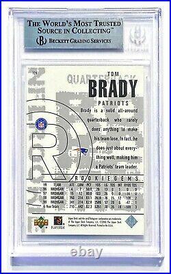 2000 Upper Deck Black Diamond TOM BRADY #126 Rookie RC BGS 9 Mint! GOAT
