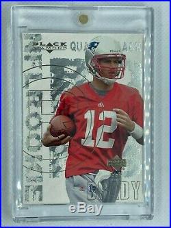 2000 Upper Deck Black Diamond Tom Brady Rookie Card # 126