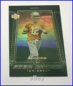 2000 Upper Deck Encore #254 TOM BRADY ROOKIE Football Card RARE SP