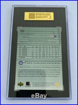 2000 Upper Deck Encore Tom Brady #254 SGC Graded Mint 9 (96) Rookie Card (RC)