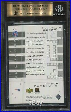 2000 Upper Deck Graded #104 Tom Brady Rookie BGS 9.5 (psa 10) 1220/1325 Made