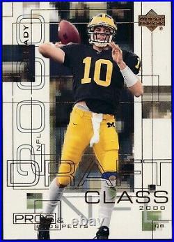 2000 Upper Deck Pros & Prospects Tom Brady /1000 Rookie Card #124 Nrmt+