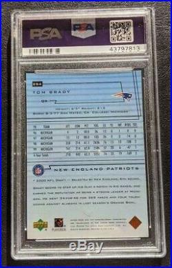 2000 Upper Deck Star ROOKIE Tom Brady #254 PSA 8 NM-MINT FREE SHIPPING