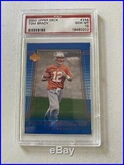 2000 Upper Deck Tom Brady Rookie PSA 10 Gem Mint RC #254 New England Patriots
