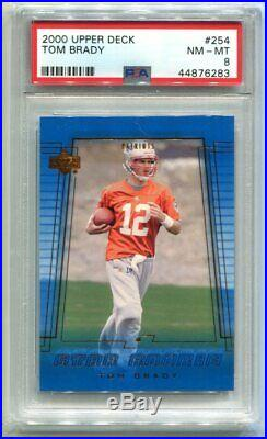 2000 Upper Deck Tom Brady Star Rookie #254 PSA 8 NM-MT Patriots (CBF283)