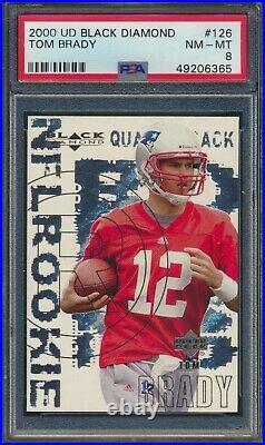 2000 Upper Deck UD Black Diamond #126 Tom Brady Patriots RC Rookie PSA 8