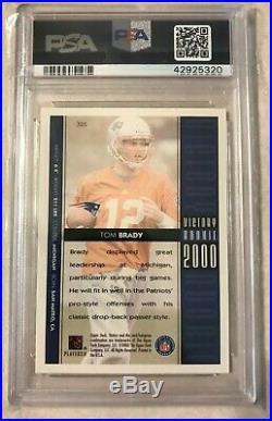 2000 Upper Deck Victory #326 Tom Brady Rookie Card PSA 10 Gem Mint NFL G. O. A. T