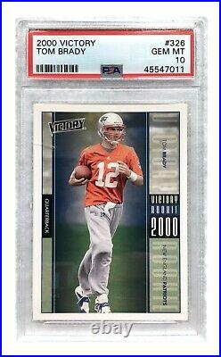 2000 Upper Deck Victory Tom Brady Rookie Card #326 PSA 10 RC Gem Mint Patriots