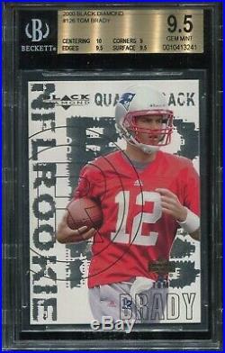 2000 Upperdeck Black Diamond #126 Tom Brady Rookie BGS 9.5 Gem Mint (Psa 10)