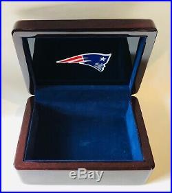2001 New England Patriots NFL Super Bowl Championship Wood Presentation Ring Box
