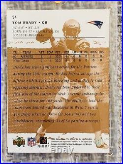 2001 Upper Deck Rookie FX #54 Tom Brady