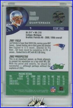 2002-03 eTopps Tom Brady Card Encased by eTopps Greatest QB of All Time