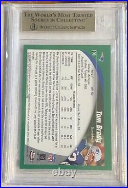 2002 Topps Chrome #100 Tom Brady BGS 9.5 Gem Mint Patriots PSA 10