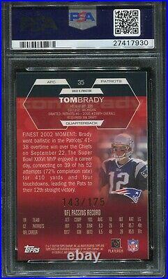 2003 Finest Gold X-Fractor #35 Tom Brady psa 9 Mint 143/175 Made Super Rare