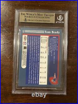 2003 Topps Chrome #124 Tom Brady, BGS 9.5 GEM MINT PSA 10