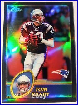 2003 Topps Chrome Tom Brady Black Refractor 126/599 Dead Centered GOAT